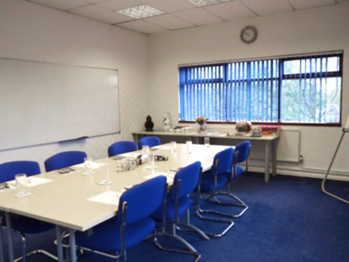 Abraham Stott Boardroom, Availible for hire at Oldham Training Center