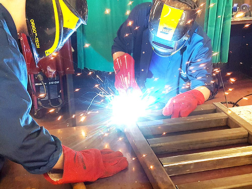 Fabrication and Welding Apprentices In Action